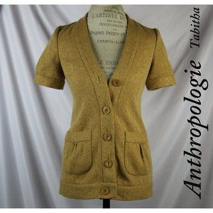 Anthropologie Tabitha Buttoned Down Mustard Coat 0